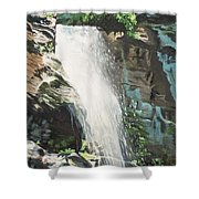 Mountain Waterfall Shower Curtain