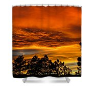 Mountain Wave Cloud Sunset With Pines Shower Curtain
