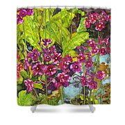 Mountain Wild Flowers Shower Curtain