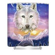 Mountain Wolf Shower Curtain