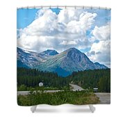 Mountains Along Cassiar Highway In Yt Shower Curtain