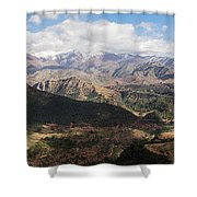 Mountains Along N9, Al Haouz Shower Curtain