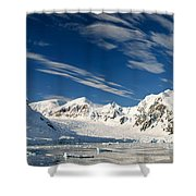 Mountains And Glaciers, Paradise Bay Shower Curtain
