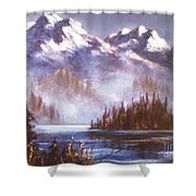 Mountains And Inlet Shower Curtain