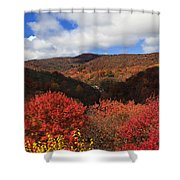 Mountains At Graveyard Fields Shower Curtain