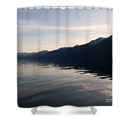 Mountains At Sunset Shower Curtain