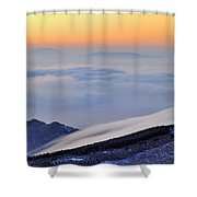 Mountains Clouds At Sunset Shower Curtain