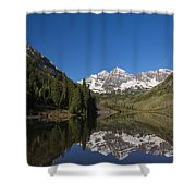 Mountains Co Maroon Bells 12 Shower Curtain