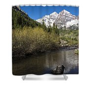 Mountains Co Maroon Bells 14 Shower Curtain
