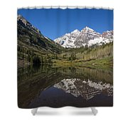 Mountains Co Maroon Bells 16 Shower Curtain