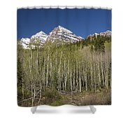 Mountains Co Maroon Bells 23 Shower Curtain