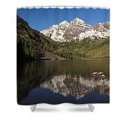 Mountains Co Maroon Bells 8 Shower Curtain