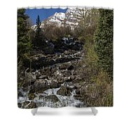 Mountains Co Maroon Creek 2 Shower Curtain