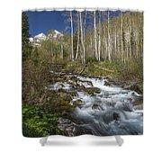 Mountains Co Maroon Creek 4 Shower Curtain