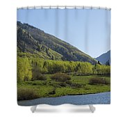 Mountains Co Maroon Lake 2 Shower Curtain