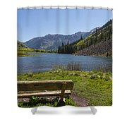 Mountains Co Maroon Lake 3 Shower Curtain