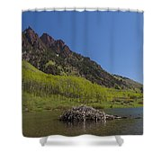 Mountains Co Maroon Lake 4 Shower Curtain