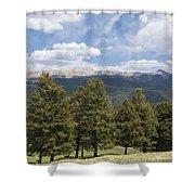 Mountains Co Mueller Sp 1 Shower Curtain