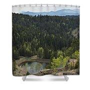 Mountains Co Mueller Sp 15 Shower Curtain