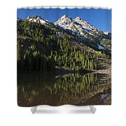 Mountains Co Pyramid 2 Shower Curtain