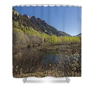 Mountains Co Sievers 3 Shower Curtain