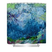 Mountains In Spring Shower Curtain