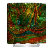 Mountains In The Rain Shower Curtain