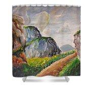 Mountains Landscape Shower Curtain
