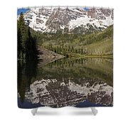 Mountains Maroon Bells 11 Shower Curtain