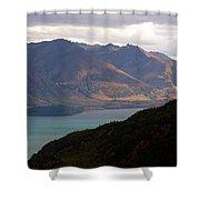 Mountains Meet Lake #4 Shower Curtain