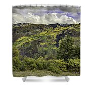 Mountains Of Color Shower Curtain
