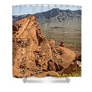 Mountains Of Fire Shower Curtain