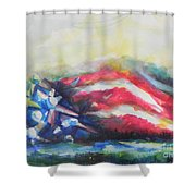 Mountains Of Freedom Shower Curtain