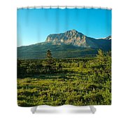 Mountains Of Many Glacier Shower Curtain