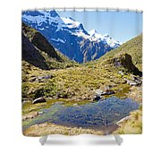 Mountains Of New Zealand Shower Curtain