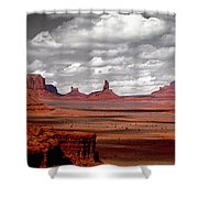 Mountains, West Coast, Monument Valley Shower Curtain