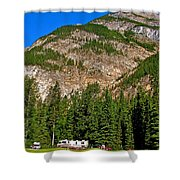 Mountains West Of Kicking Horse Campground In Yoho Np-bc Shower Curtain