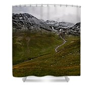 Mountainscape With Snow Shower Curtain