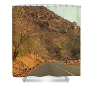 Mountainside And Stall Shower Curtain