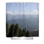 Mountainview Krasnaya Polyana Shower Curtain