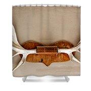 Mounted Elk Antlers Shower Curtain