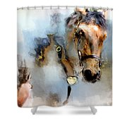 Mounted New York Sunday Shower Curtain