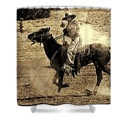 Mounted Shooting Shower Curtain
