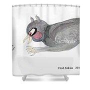 Mouse Escape Watercolor Shower Curtain