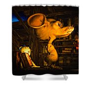 Mouse In The Attic Shower Curtain by Bob Orsillo