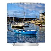 Mousehole Harbour Morning Shower Curtain