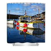 Mousehole Harbour Shower Curtain