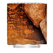 Mouse's Tank Petroglyph Canyon Shower Curtain
