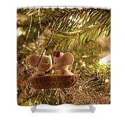 Mousie Love In A Tree Shower Curtain