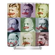 Moustaches Shower Curtain